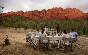 Dining at Arkaba Homestead
