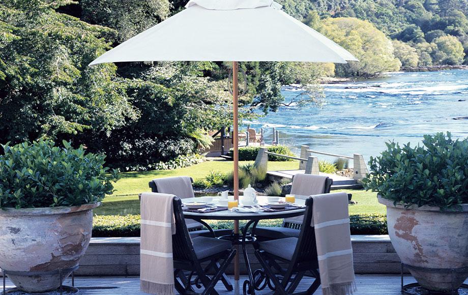 Huka Lodge Breakfast on the Terrace