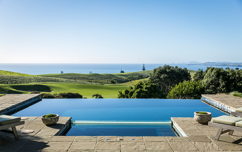 The Lodge at Kauri Cliffs infinity pool