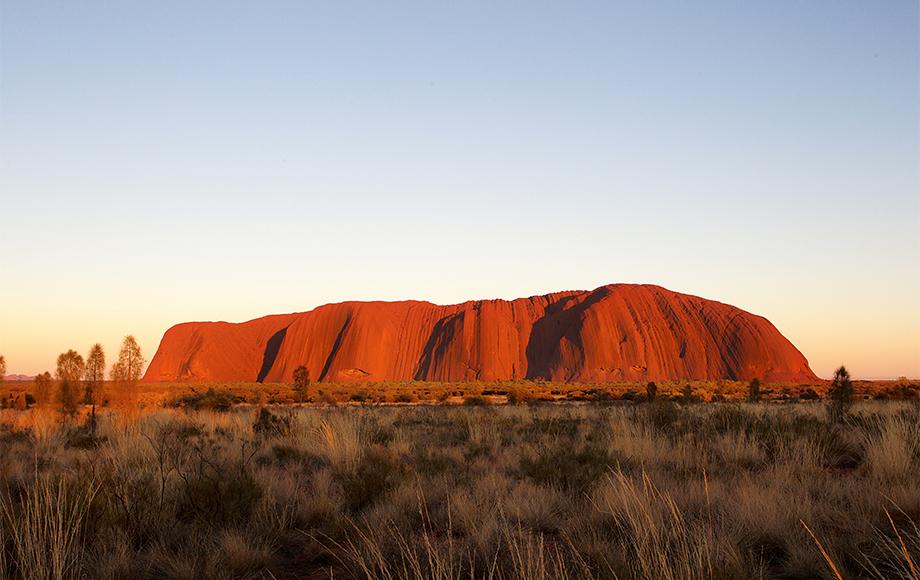 View of Uluru from Longitude-131