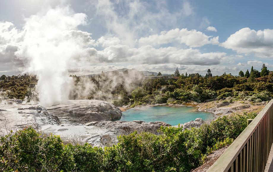 Rotorua City in the North Island of New Zealand