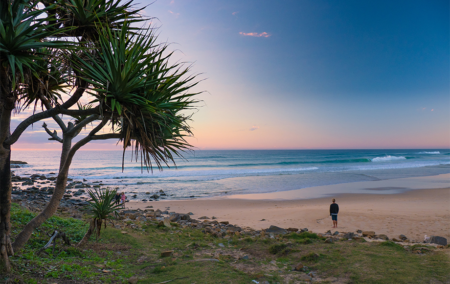 Sunshine Beach on the the Sunshine Coast in Queensland