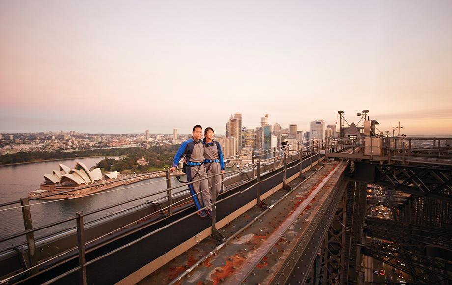 Climbing atop the Sydney Harbour Bridge